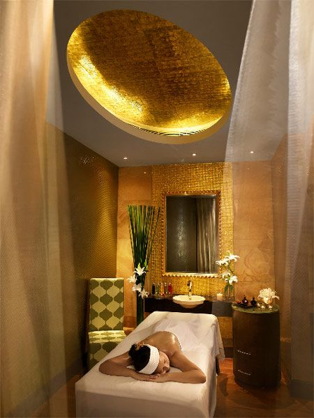 Relaxing massage room