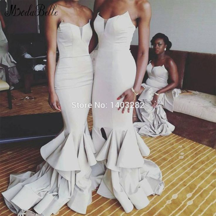 Trendy Aliexpress Buy Sexy African Country Bridesmaid Dresses Long Mermaid Wedding Guest Dresses Ruched