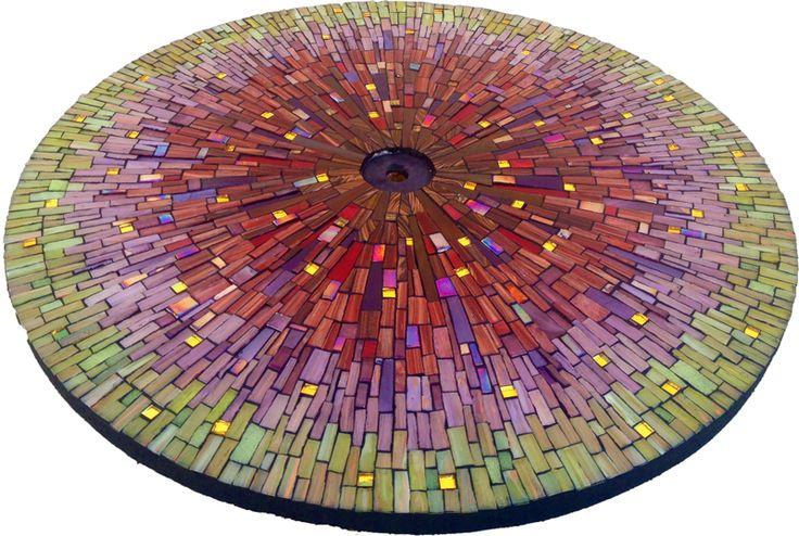 Quartz Mosaic Table by Dyanne Williams http://www.dyannewilliamsmosaics.com/QuartzTable/quartztable.html