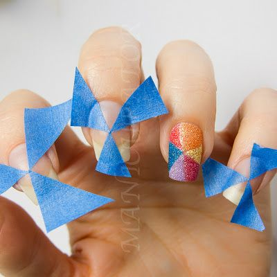 PixieDust Pinwheel Nail Art + Tutorial