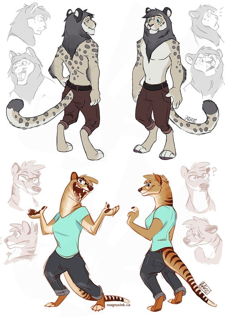 Anthro snow leopard male - photo#30