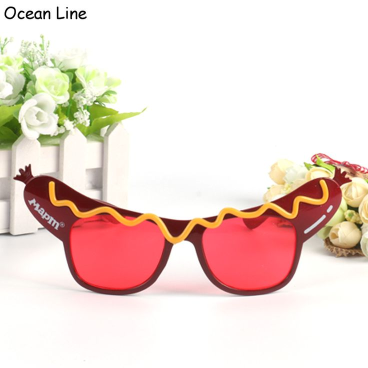 Creative Hotdog Glasses Novelty Sunglasses Fancy Dress Costume Party Glasses For Birthday Wedding and Party Supplies Decoration