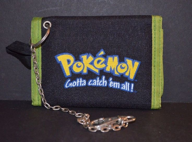 Pokemon Wallet and Chain Bulbasaur Nintendo Licensed Product Tri-Fold Excellent #Nintendo