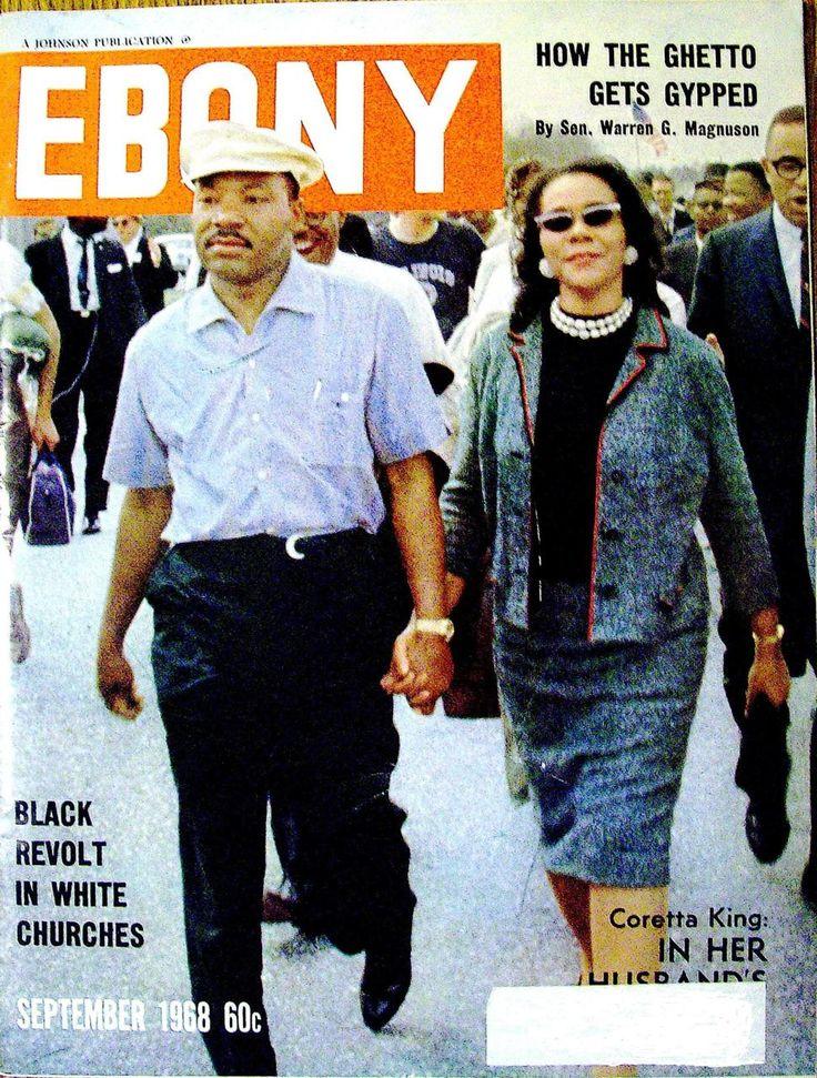 .MLK & Coretta Scott, Ebony Magazine