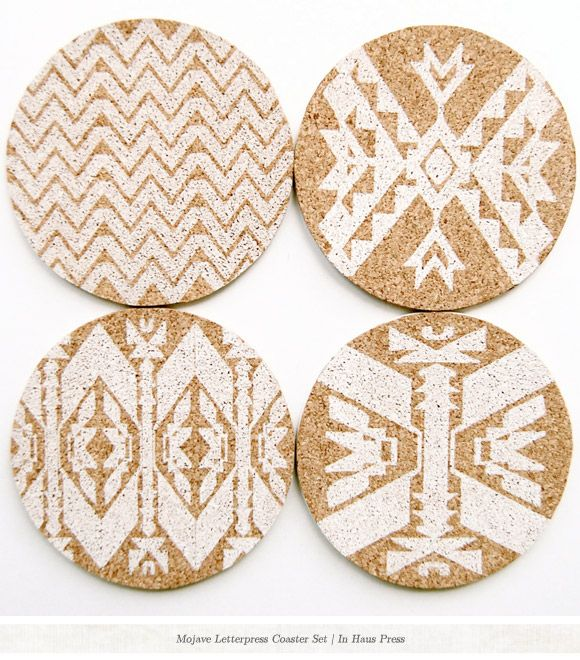 Tribal Coasters - inspiration for guest take home gifts at natural boho wedding