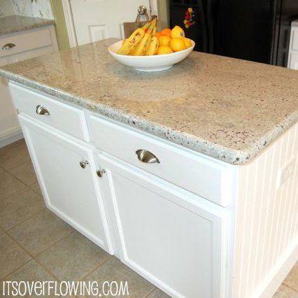 Kitchen: Granite, Back Splash & DIY Built-In {Two Story House}