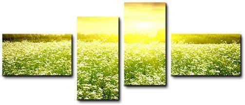 Quadro moderno 4 pz stampa su tela cm 176x74 quadri XXL arte casa fiori