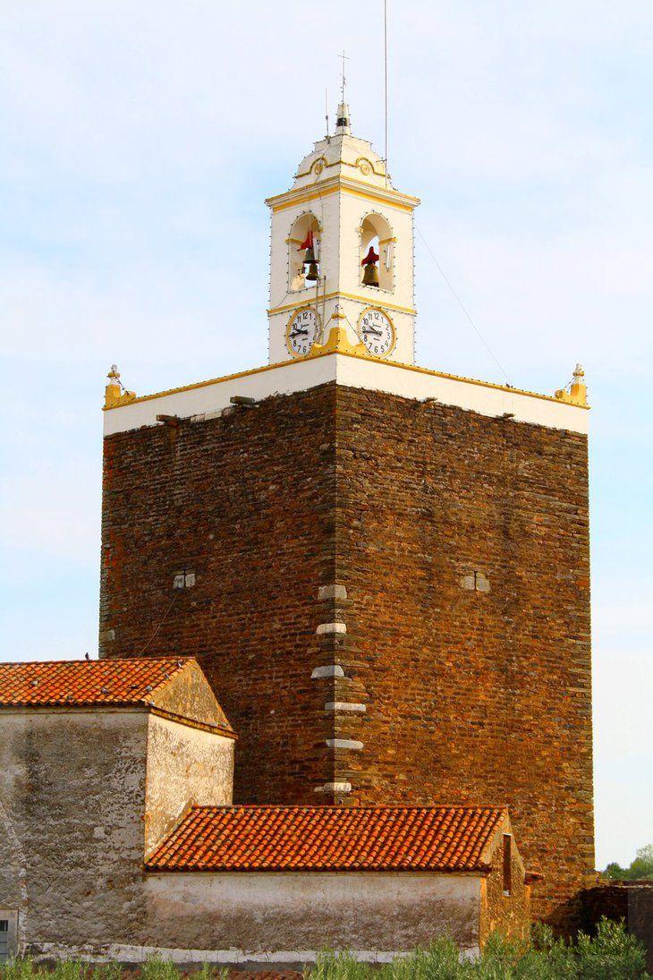 Alandroal Clock Tower I . Inside the Castle -Distrito de Évora - ALENTEJO Central / Portugal. by FilipaGrilo