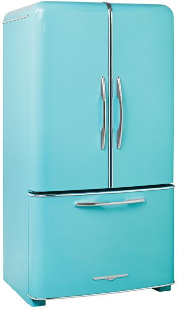 modern fridges made to look like 1950's models. They even have matching vintage stoves/ovens, and panels for the front of your dishwasher!!