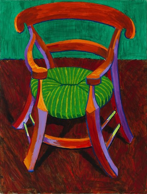 Gauguin's Chair by David Hockney, 1988, acrylic on canvas | Richard Gray Gallery