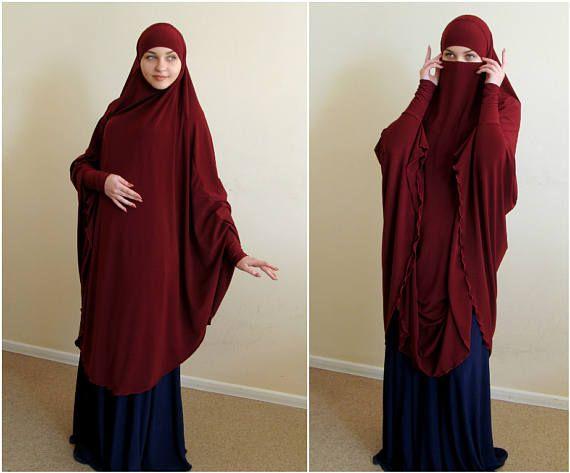 Transformer Burgundy Khimar, niqab burqa, granet niqab, traditional burqa, French hijab,ready to wear hijab, long hijab,burqa, long khimar
