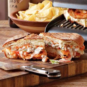 Buffalo Chicken Panini with Blue Cheese-Celery Slaw (by Williams Sonoma)
