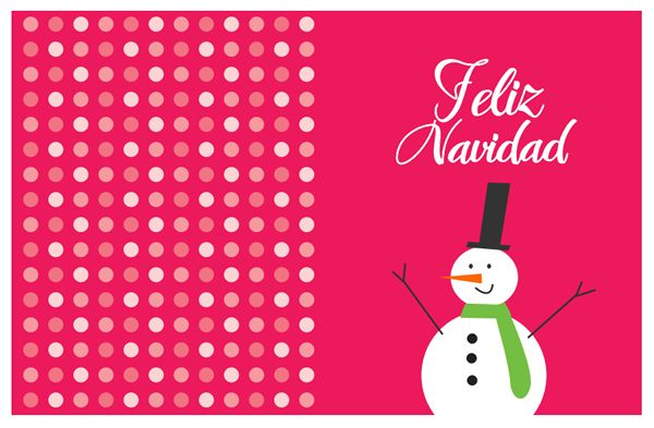 tarjetas navidad para imprimir. dibujo muñeco nieve