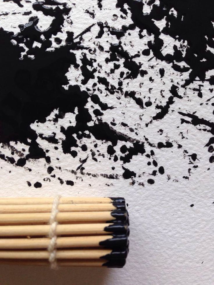 Stick Bundle Drawing (close up)
