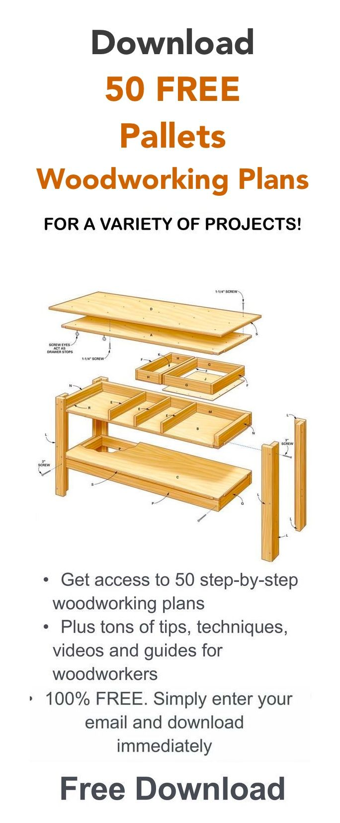 Free Pallet Woodworking Plans Free Woodworking Project