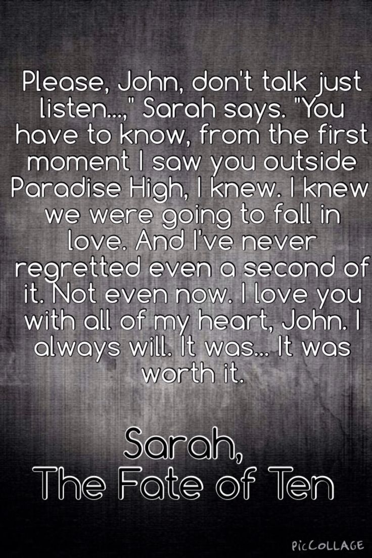 Why Does Sarah Have To Die?