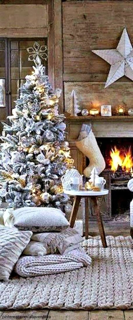 Beautiful Christmas tree and mantle