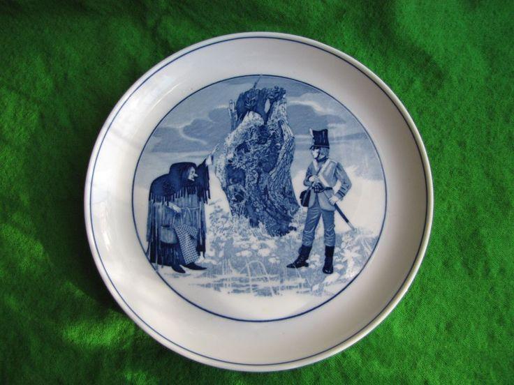 MEISSEN collection Wall plate Sven Bertil Berg 1978 fairytale HC Andersen blue
