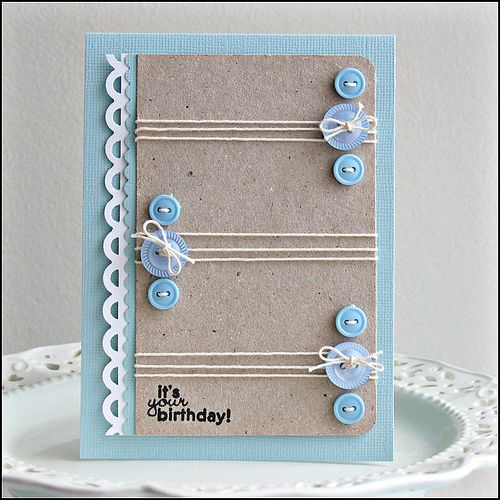 Button Birthday Card by Carina Lindholm