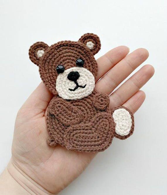 Pattern Bear Applique Crochet Pattern Pdf Woodland Animals