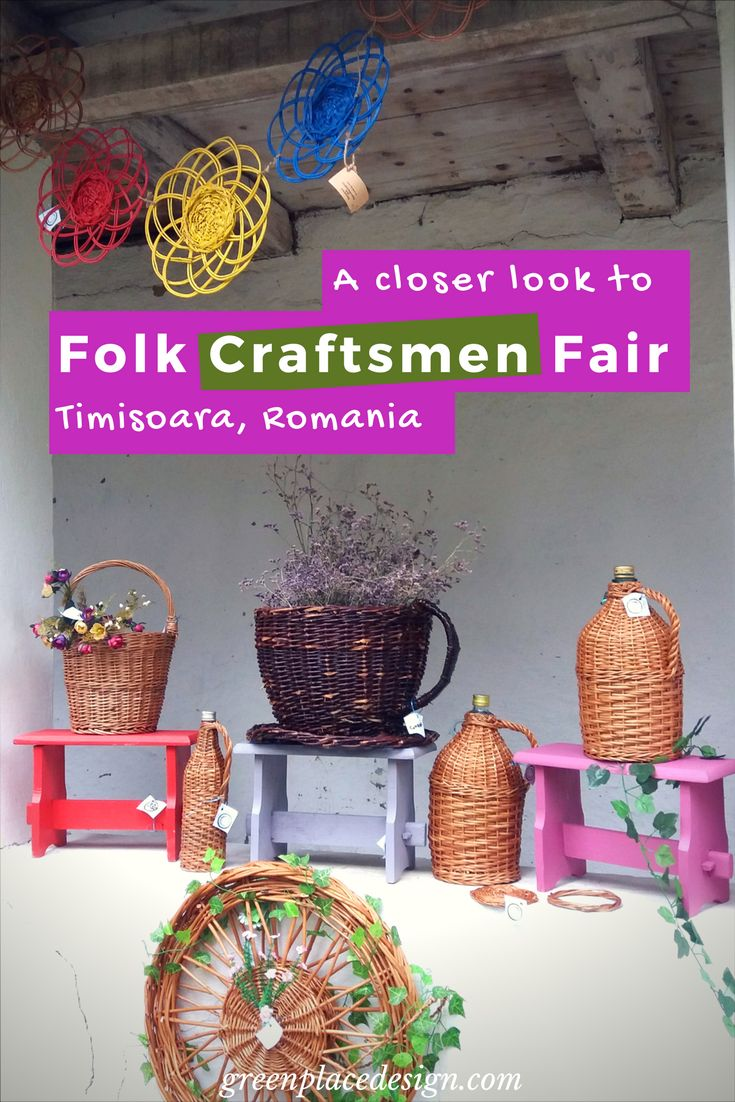 A closer look to the Folk Craftsmen Fair held in Timisoara, Romania | Green Place Design | Unique traditional objects for your home, such as wood carved decorations, clay pots and willow baskets. All handmade. Bringing a beautiful rustic touch to any house. Indoor and outdoor pieces. | #craftsmenfair #crafts #woodcraft #claypot #willowbasket #artisans #Timisoara #Romania #traditionalevent #decorations #rustic #traditional #indoor #outdoor #decor #greenplacedesign