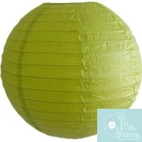 Lanterne Papier Vert Anis 20cm