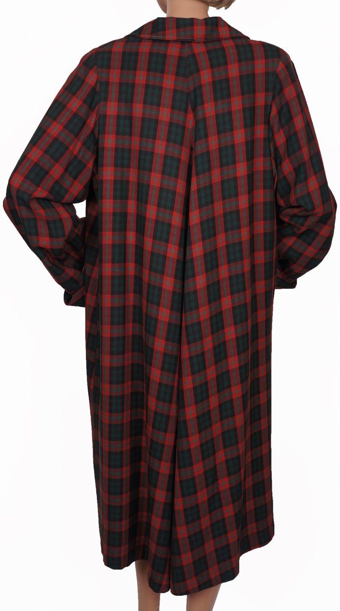Vintage 50s Plaid Womens Raincoat & Cap // 1950s Debutogs New York Coat Red & Green Tartan Pattern Ladies Size L