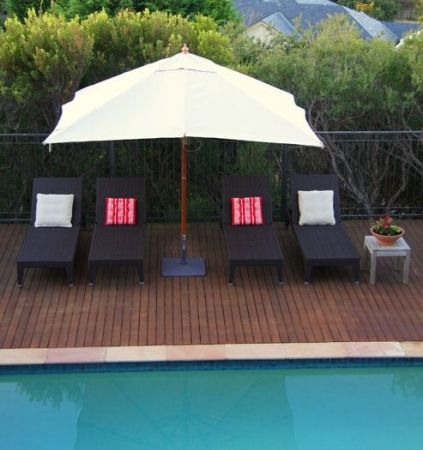The Olympia Sun Lounge is a comfortable and chic chair that would look fantastic by the pool or on a balcony - Complete Pad