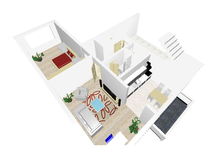nákres domu v 3D