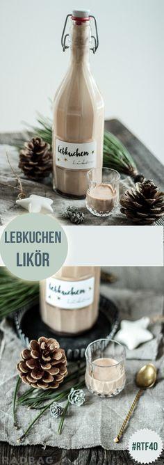 Rezept für Lebkuchenlikör #xmas #christmas #weihnachten #giftidea #likör #lebkuchen #diy #rezept