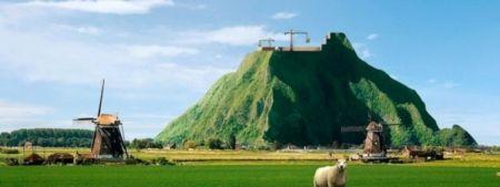 Een berg in Nederland, De berg zal voor grote delen hol zijn, dus meer een gebouw dan een hoop zand. In de berg komt daarmee ruimte voor grootschalige productie van water, voedsel en energie en bijvoorbeeld voor de opslag van afval en CO2. Voor de bouw en exploitatie van een volledig duurzame berg zijn veel innovatieve technieken nodig.    Voedsel verbouwen zonder zonlicht: het kan. PlantLab heeft een systeem ontwikkeld om beter, sneller en duurzamer voedsel te verbouwen in afgesloten…
