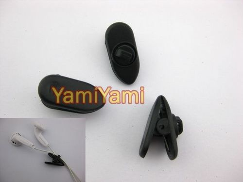 3X Headphone Earphone Cellphone Cable NIP Clamp Clip Black New - 1.1$