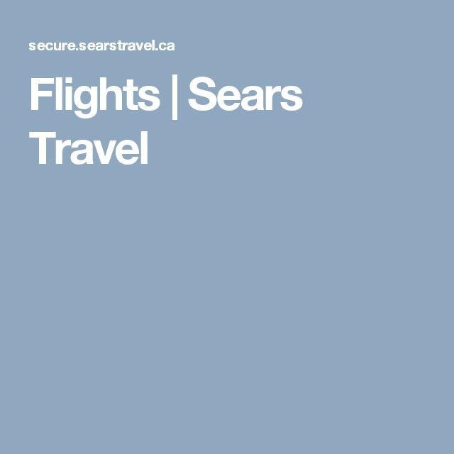 Flights | Sears Travel