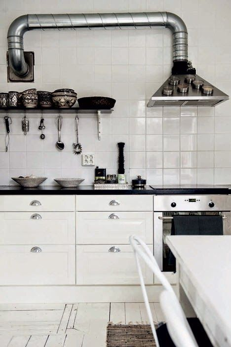 The striking monochrome home of a Swedish photographer. Magdalena Björnsdotter.