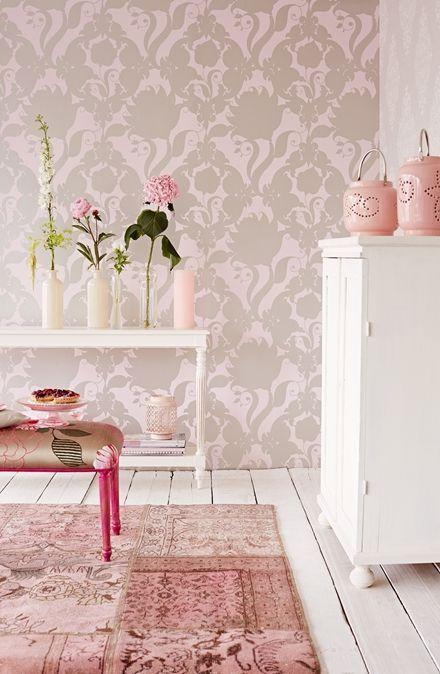 Olika toner av rosa, tapet från InTrade, Charm 3312402