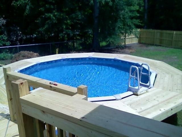 Pool surrond deck, by Garrett Construction...706/816/9702