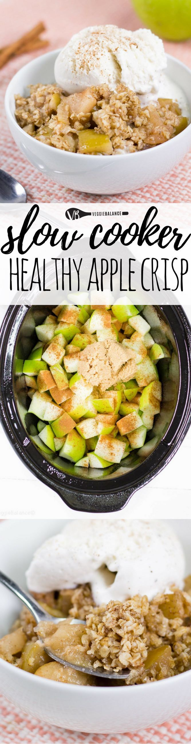 Healthy Apple Crisp in Slow Cooker (gluten-free) - Veggie Balance