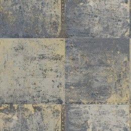 Blue metal plate wallpaper by Holden Decor - 651642