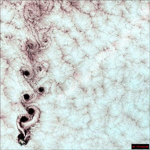 karman vortices aka dope cloud patterns