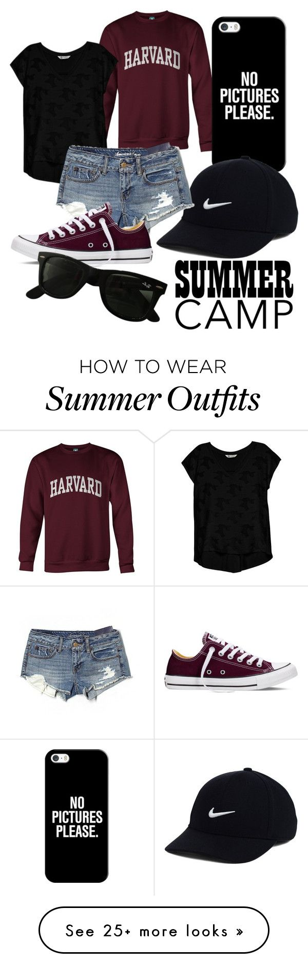 """""""Untitled #19"""" by mirandabowman1 on Polyvore featuring Bobeau, Casetify, NIKE, American Eagle Outfitters, Converse, Ray-Ban, summercamp and 60secondstyle"""