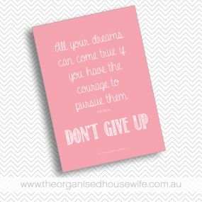 {The Organised Housewife} Don't give up