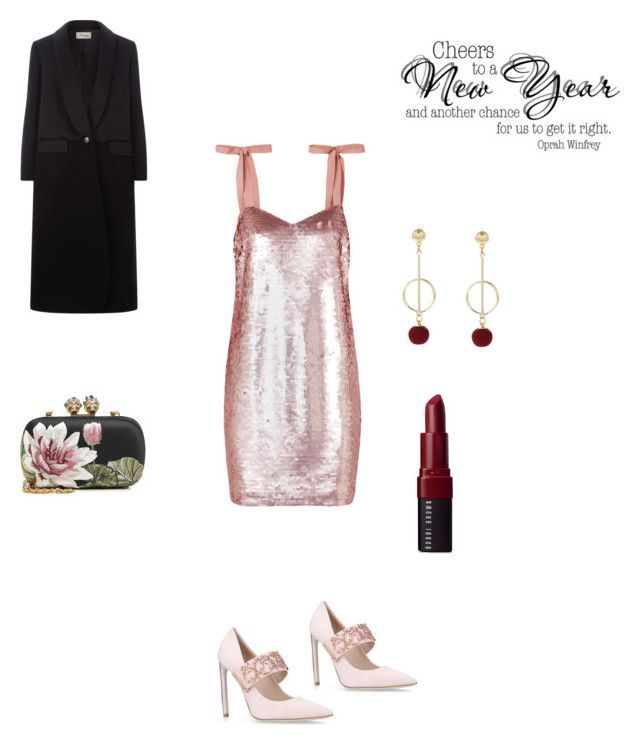 """New years"" by francystyling78 on Polyvore featuring moda, J.Crew, Ralph & Russo, Alexander McQueen, Temperley London e Bobbi Brown Cosmetics"