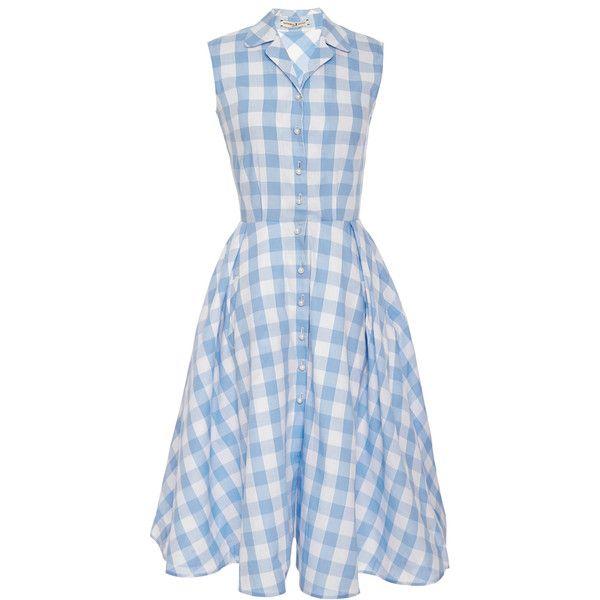 Light Blue Checkered Dress