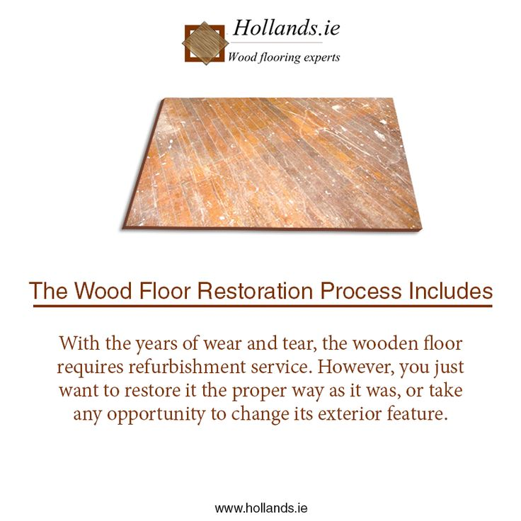 Did you know that wooden floor planks can be restored? See this #GIF image from Hollands.ie to know about the #WoodFloor Restoration process.