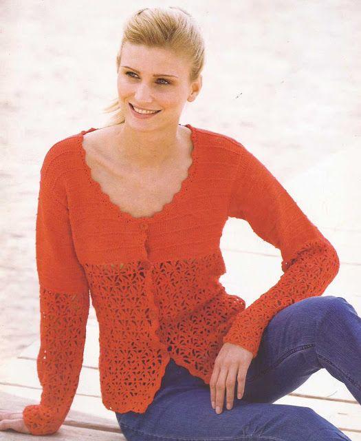 Patrón #995: Blusa a Dos Agujas | CTejidas [Crochet y Dos Agujas]