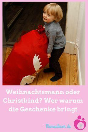 Warum in manchen Regionen das Christkind und in anderen der Weihnachtsmann an Heiligabend die Geschenke bringt und welche Weihnachtstraditionen es noch gibt. #weihnachten #Weihnachtsmann #Christkind #Geschenke #Bräuche #Traditionen