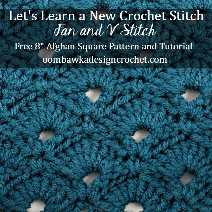 This week we are going to learn how to crochet the fan and v stitch. This is a very pretty stitch!