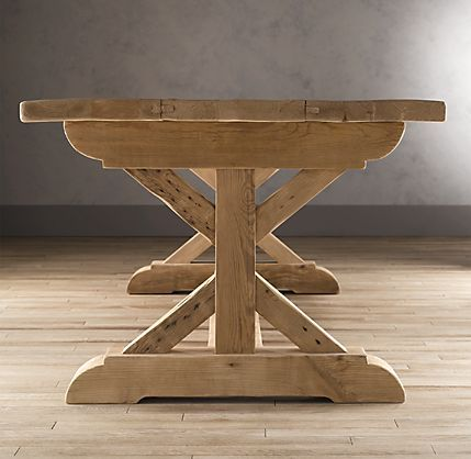 Restoration Hardware   Farmhouse Table  Could I Have This Trestle Built For  My Old Tabletop?