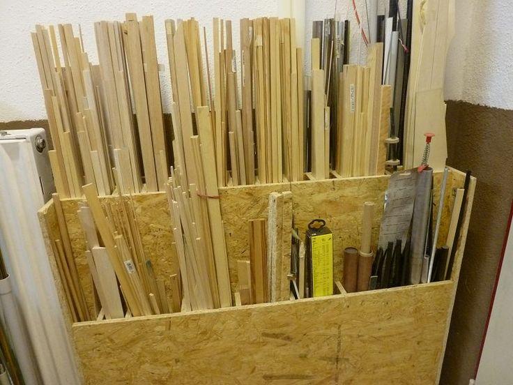 aufbewahrung von restholz zum bauen und basteln. Black Bedroom Furniture Sets. Home Design Ideas