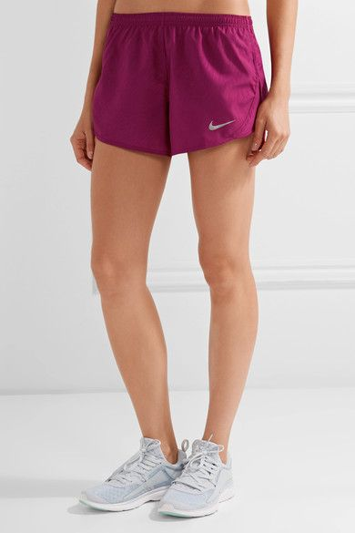 Nike - Dry Tempo Mesh-trimmed Printed Shell Shorts - Plum - x large